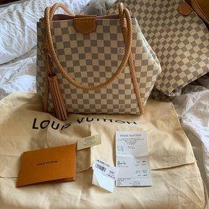 SOLD Luis vuitton propriano handbag in damier azur
